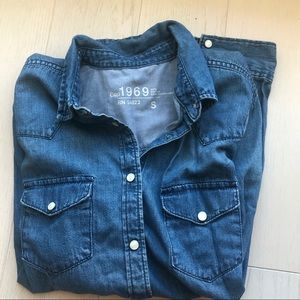 GAP Denim Button Down Shirt